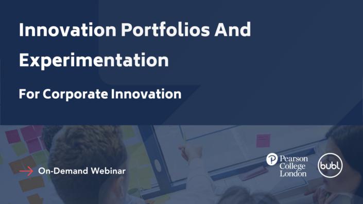 Innovation Portfolios And Experimentation for Corporate Innovation Studio Zao