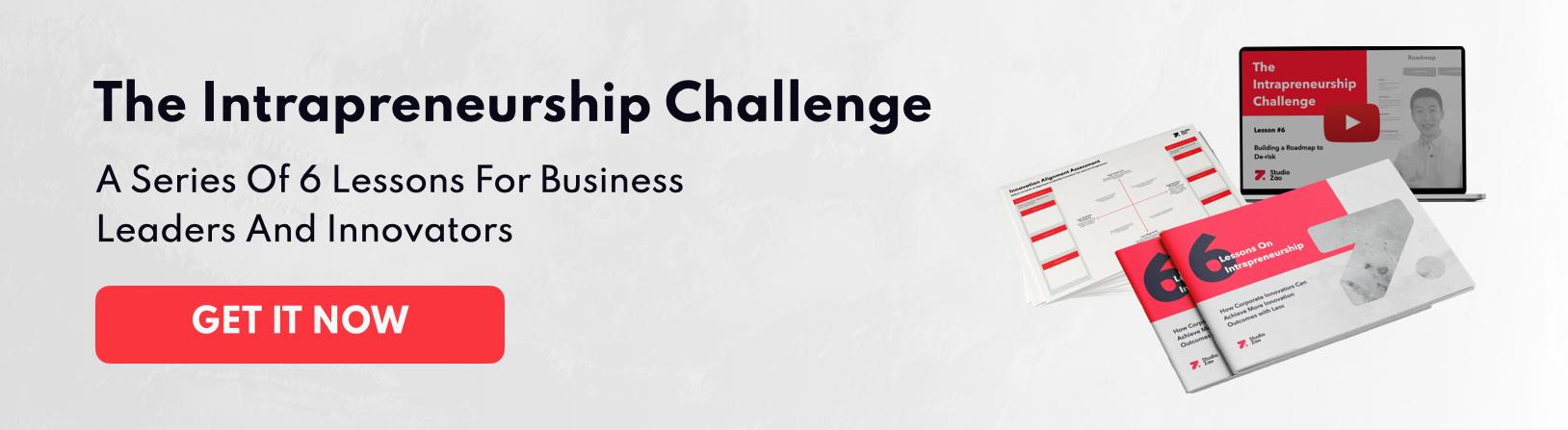 The Intrapreneurship Challenge Banner